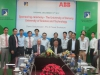 Signing ceremony for hand-over of experimental equipments of distribution grid automation sponsored by ABB Vietnam-Co-Ltd